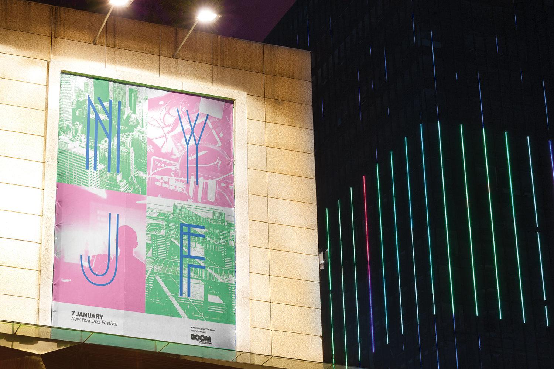 Winter Jazz Fest - Convention Centre Billboard